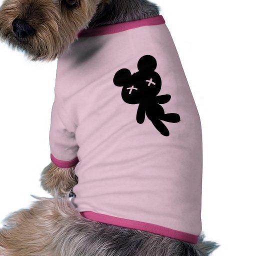 Peluche muerto pequenito de B&W Camiseta Con Mangas Para Perro