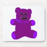 Peluche púrpura tapete de ratón