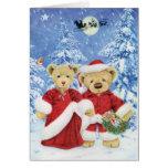 Peluche Santa y tarjeta de Navidad de señora Claus