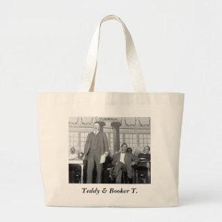 Peluche y Booker T., 1900s tempranos Bolsa Tela Grande