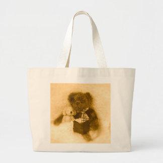 Peluche y perrito bolsas lienzo