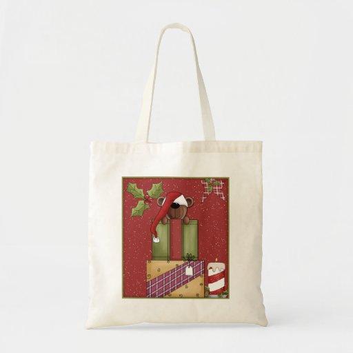 Peluche y regalos - diseño del navidad bolsa