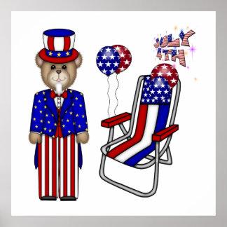 Peluches 4tos de la silla de julio póster