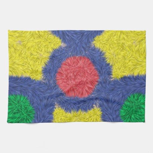 Peludo colorido del caleidoscopio toalla de mano