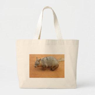 Peludo lindo de Wombat Bolsa Tela Grande