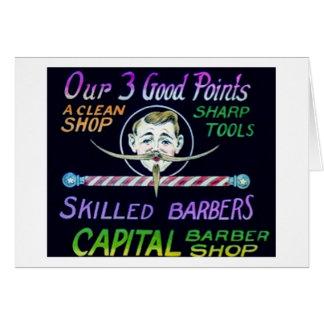 Peluquería de caballeros capital nuestro vintage tarjeta de felicitación