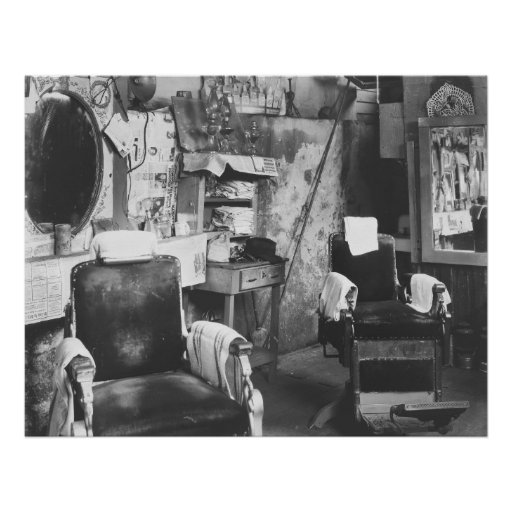 Peluquería de caballeros de Atlanta: 1936 Poster