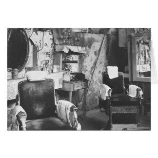 Peluquería de caballeros de Atlanta, los años 30 Tarjeta De Felicitación