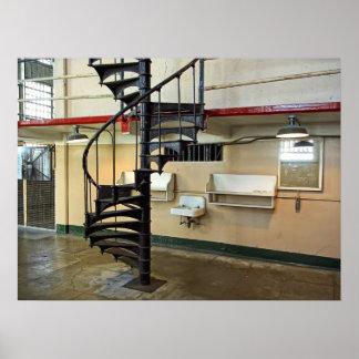 Peluquería de caballeros de la cárcel de Alcatraz Póster
