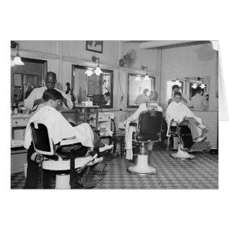 Peluquería de caballeros del capitolio, 1938 tarjeta de felicitación