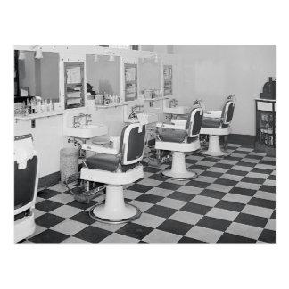 Peluquería de caballeros ejecutiva, 1935 tarjeta postal