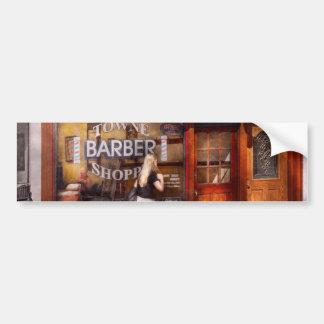 Peluquero - barbería - hora para un corte de pelo pegatina para auto