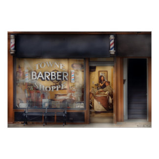 Peluquero - conseguir un corte del pelo posters