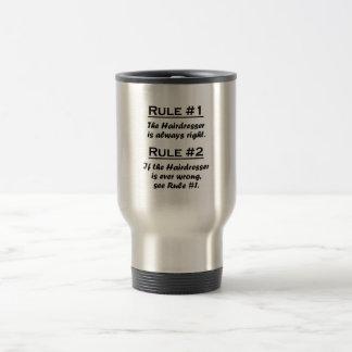 Peluquero de la regla taza de café