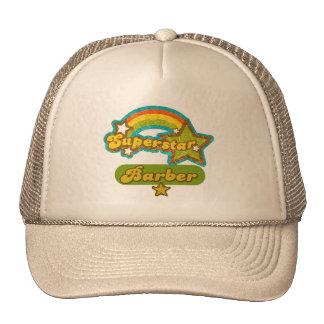 Peluquero de la superestrella gorras de camionero