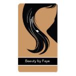 Peluquero de las tarjetas de visita de la belleza