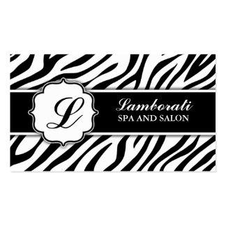 Peluquero del estilista del estampado de zebra del tarjetas de visita