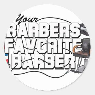 Peluquero del favorito de los peluqueros pegatinas redondas