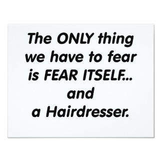 peluquero del miedo invitación 10,8 x 13,9 cm