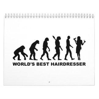 Peluquero del mundo de la evolución el mejor calendario de pared