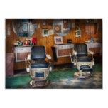 Peluquero - Frenchtown, NJ - dos sillas de Invitación Personalizada