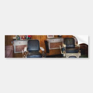 Peluquero - Frenchtown, NJ - dos sillas de peluque Pegatina Para Auto