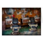 Peluquero - Frenchtown, NJ - dos sillas de peluque Felicitación