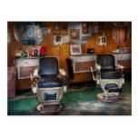 Peluquero - Frenchtown, NJ - dos sillas de Postal