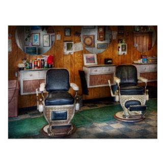 Peluquero - Frenchtown, NJ - dos sillas de Tarjetas Postales