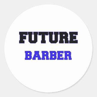 Peluquero futuro pegatinas redondas