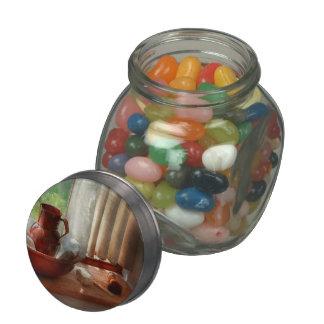Peluquero - hábitos de la mañana frascos de cristal