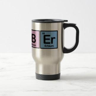 Peluquero hecho de elementos tazas de café
