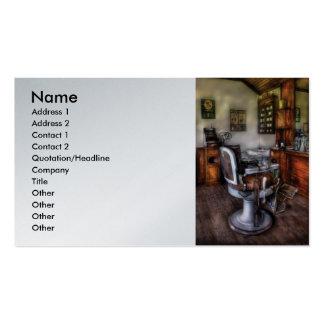 Peluquero - la silla de peluquero plantilla de tarjeta de visita