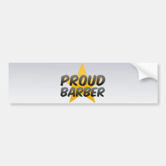 Peluquero orgulloso etiqueta de parachoque