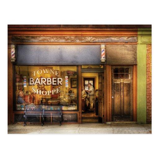 Peluquero - peluquería de caballeros de Towne Tarjeta Postal