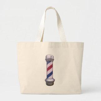 Peluquero poste bolsa tela grande