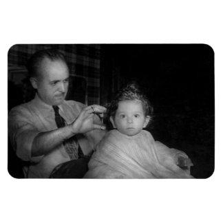 Peluquero - primer corte de pelo iman flexible