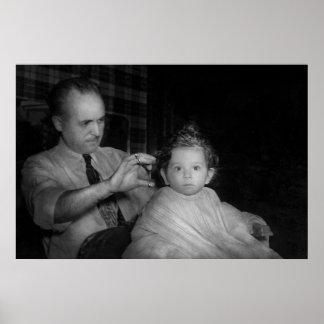 Peluquero - primer corte de pelo impresiones