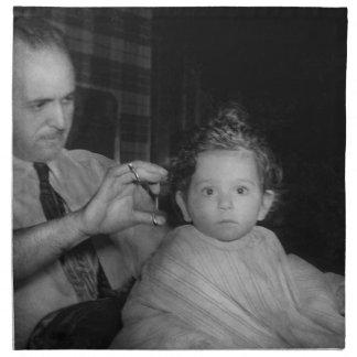 Peluquero - primer corte de pelo servilletas