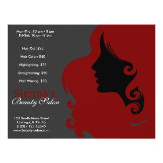 Peluquero (rojo oscuro) tarjeta publicitaria