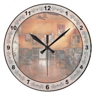 Peluquero - unión, NJ - el salón moderno Reloj Redondo Grande