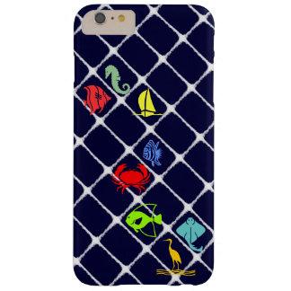 Pelusa blanca náutica funda de iPhone 6 plus barely there