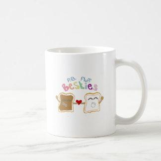 pelusa de la mantequilla de cacahuete de los besti taza de café