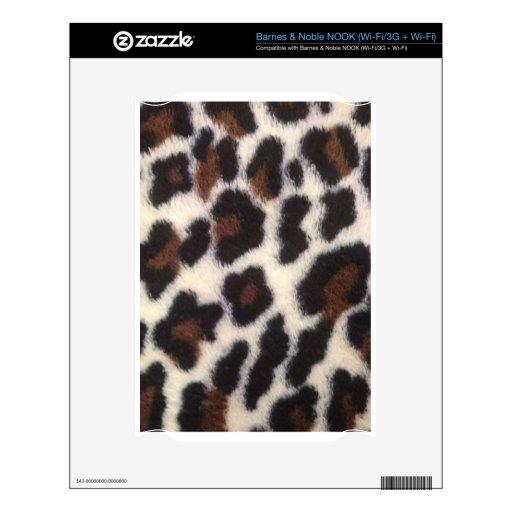 Pelusa del leopardo calcomanías para NOOK