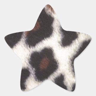 Pelusa del leopardo pegatina en forma de estrella