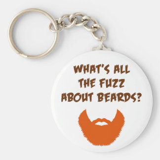 Pelusa sobre barbas llavero redondo tipo pin