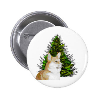 PEM WITH CHRISTMAS TREE PINBACK BUTTONS