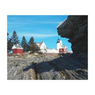Pemaquid From Behind The Rocks Canvas Print