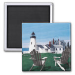 Pemaquid Lighthouse and Two Chairs Magnet