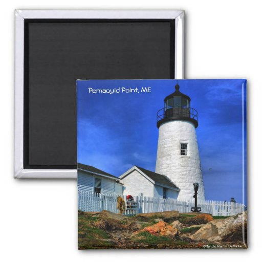 Pemaquid Lighthouse-Magnet 2 Inch Square Magnet